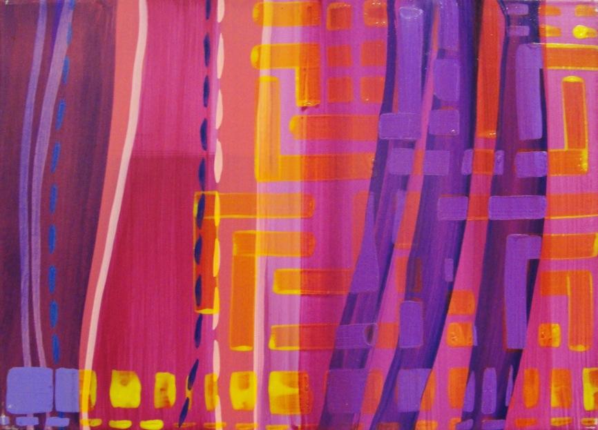 55x46cm. Acrylic on canvas.