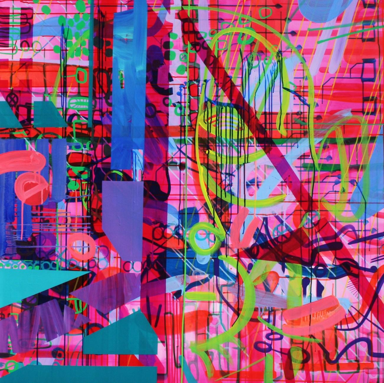 100x100cm. Acrylic on canvas.