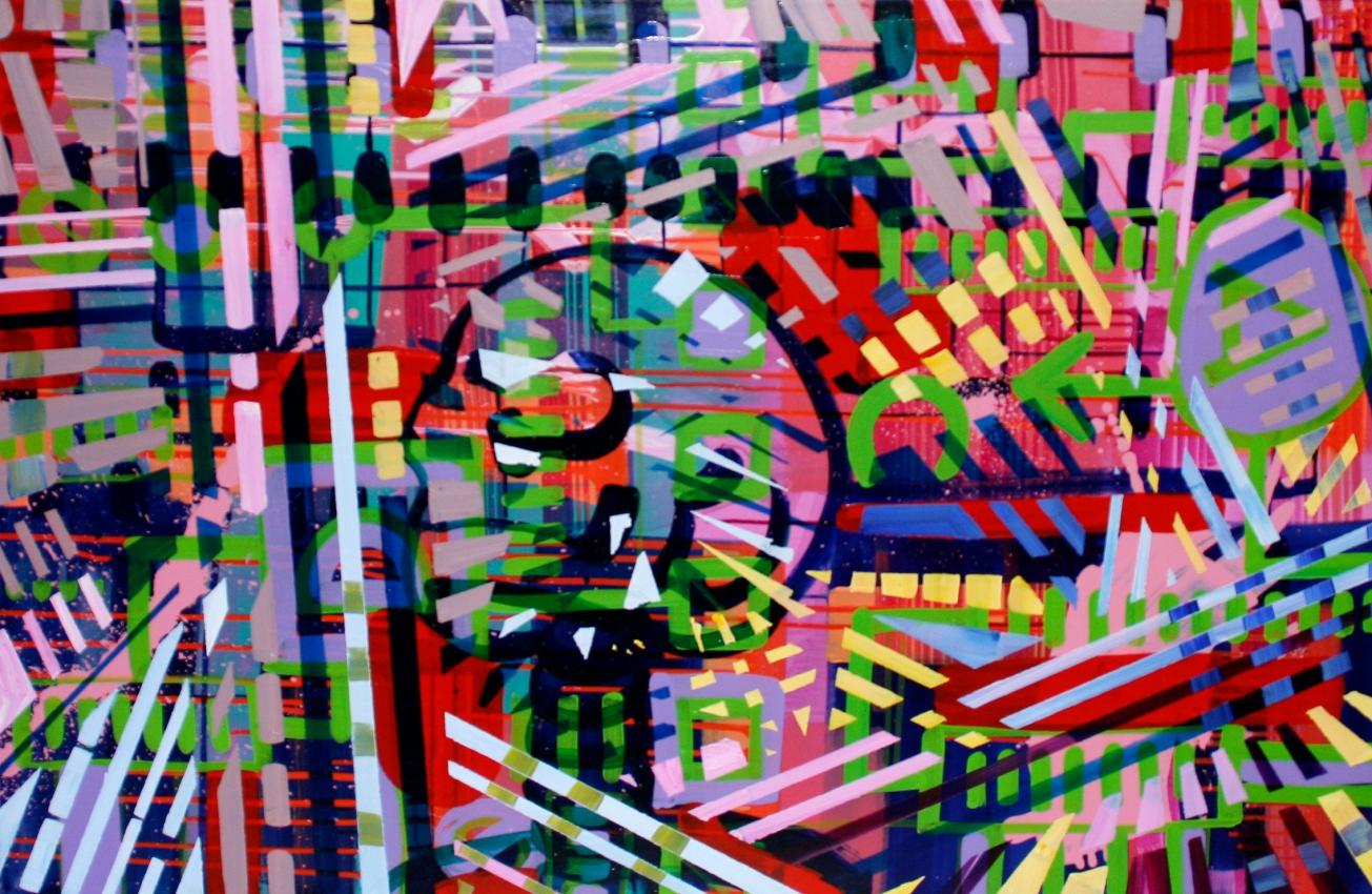 Egodeconstruct 120x80cm Acrylic on canvas 2014